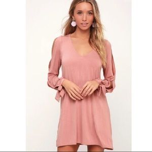 Mauve Shift Dress, Size L